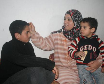 Mohammad* and his mother Alia* live in Jabalia refugee camp, north Gaza