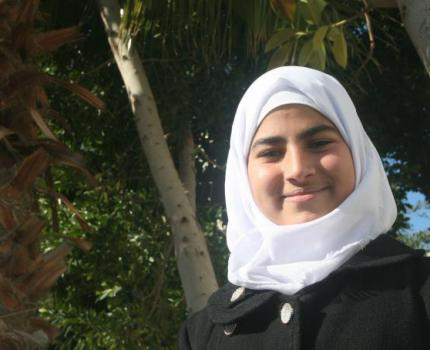 Wafaa* is 13 and lives in Beit Hanoun, in the north of the Gaza Strip